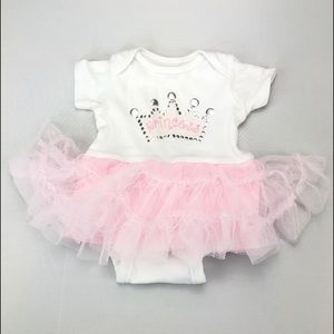 4/$25 Princess Onesie with Attached Pink Tutu